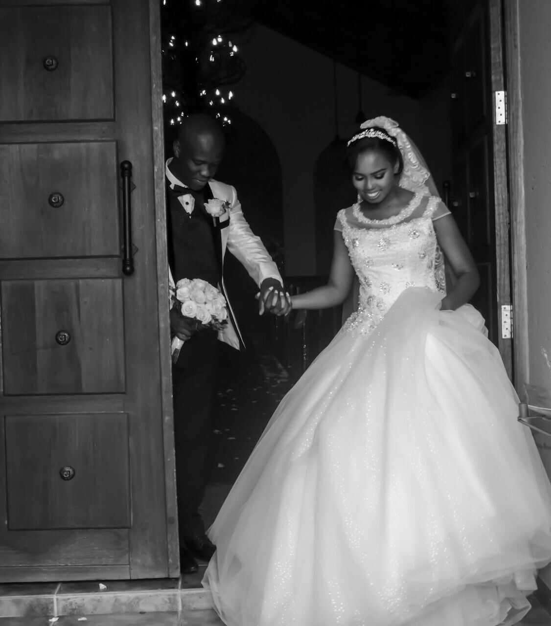 Trying on wedding dresses for the first time  For the first time ever meet Mr and Mrs Mahlangu bride wedding