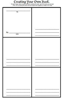 Write a book template microsoft word