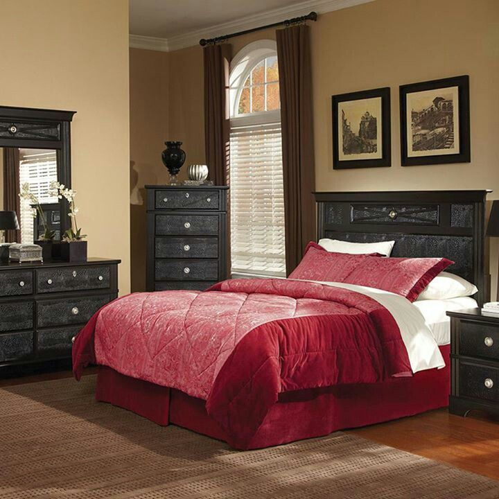 dimora bedroom set%0A Inter Spec Thomas Hahn II Bedroom Collection   Ideas for the House    Pinterest   Dark wood bedroom furniture  Dark wood bedroom and Wood bedroom