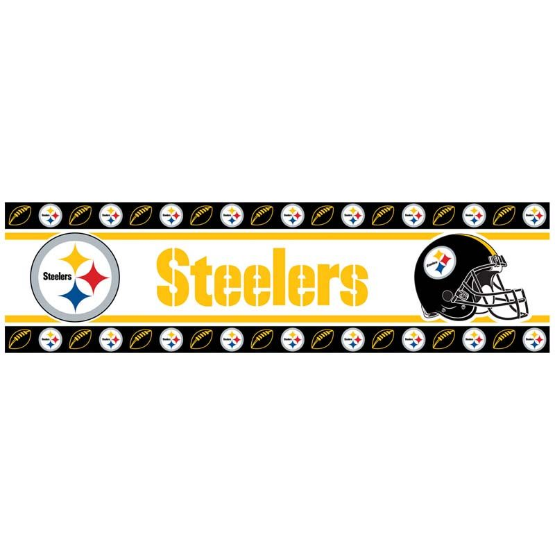 Pittsburgh Steelers NFL Wall Paper Border Pittsburgh