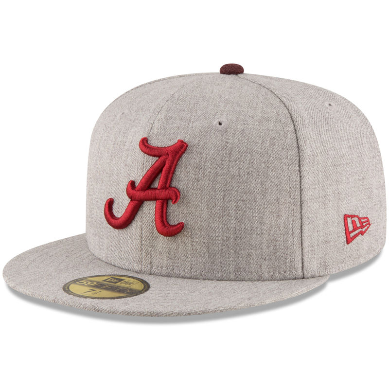 fc6a18aef3c Alabama Crimson Tide New Era Hype 59FIFTY Fitted Hat - Heathered Gray