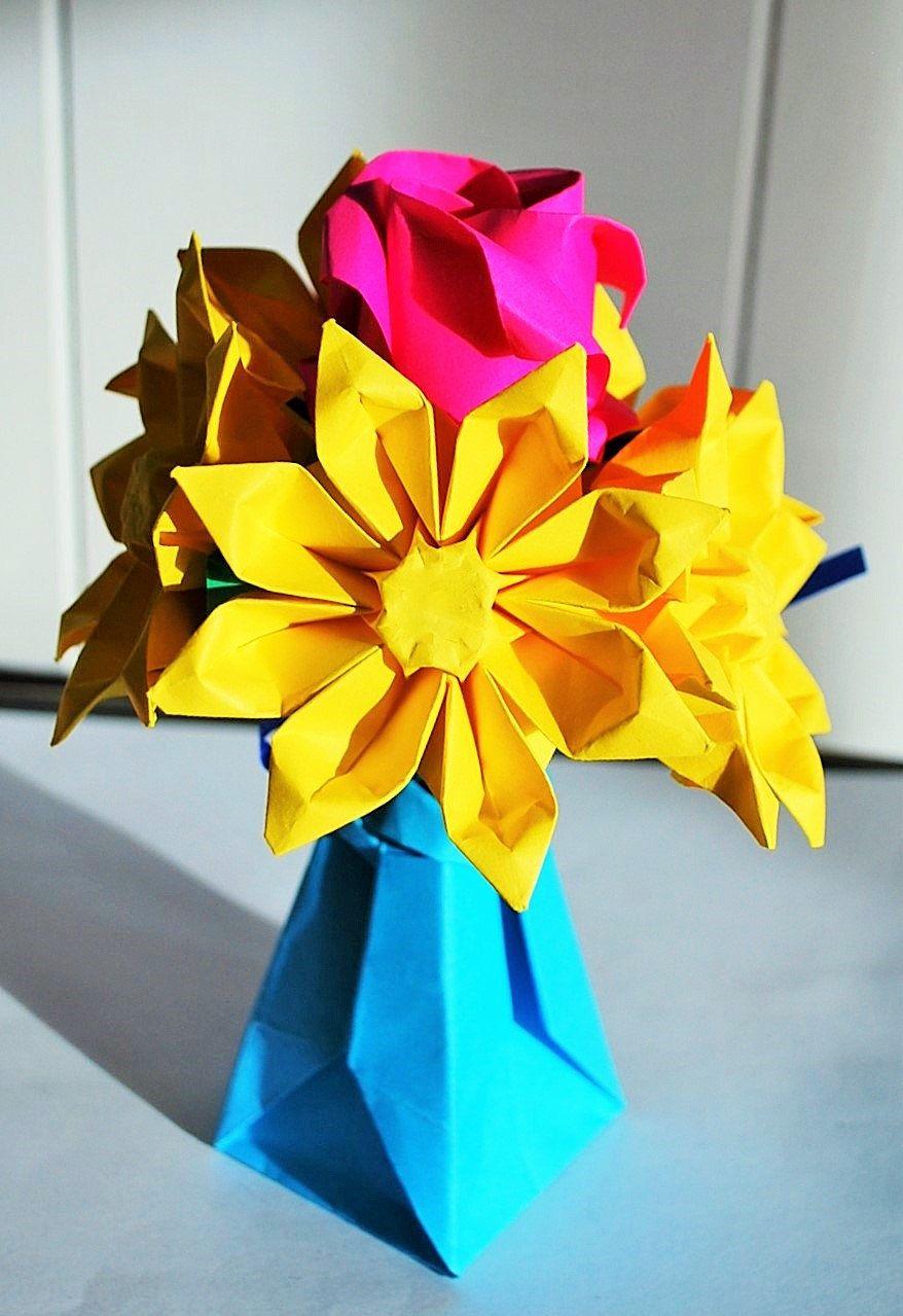 Origami flowers paper flower bouquet paper flower gift origami origami flowers paper flower bouquet paper flower gift origami rose origami tulips anniversary bouquet mightylinksfo