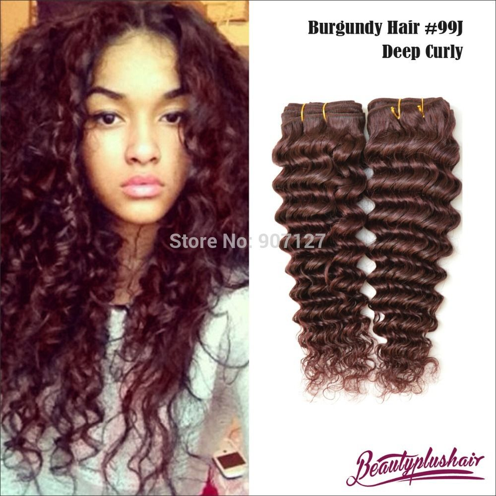 2pcs lot 6a red 99j brazilian remy hair deep curly hair 2pcs lot 6a red 99j brazilian remy hair deep curly hair extensions kinky curly hair pmusecretfo Image collections