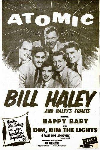 Bill Haley and The Comets Decca record ad .