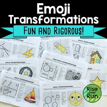 Transformations Practice Emojis Translate Reflect Rotate And Dilate