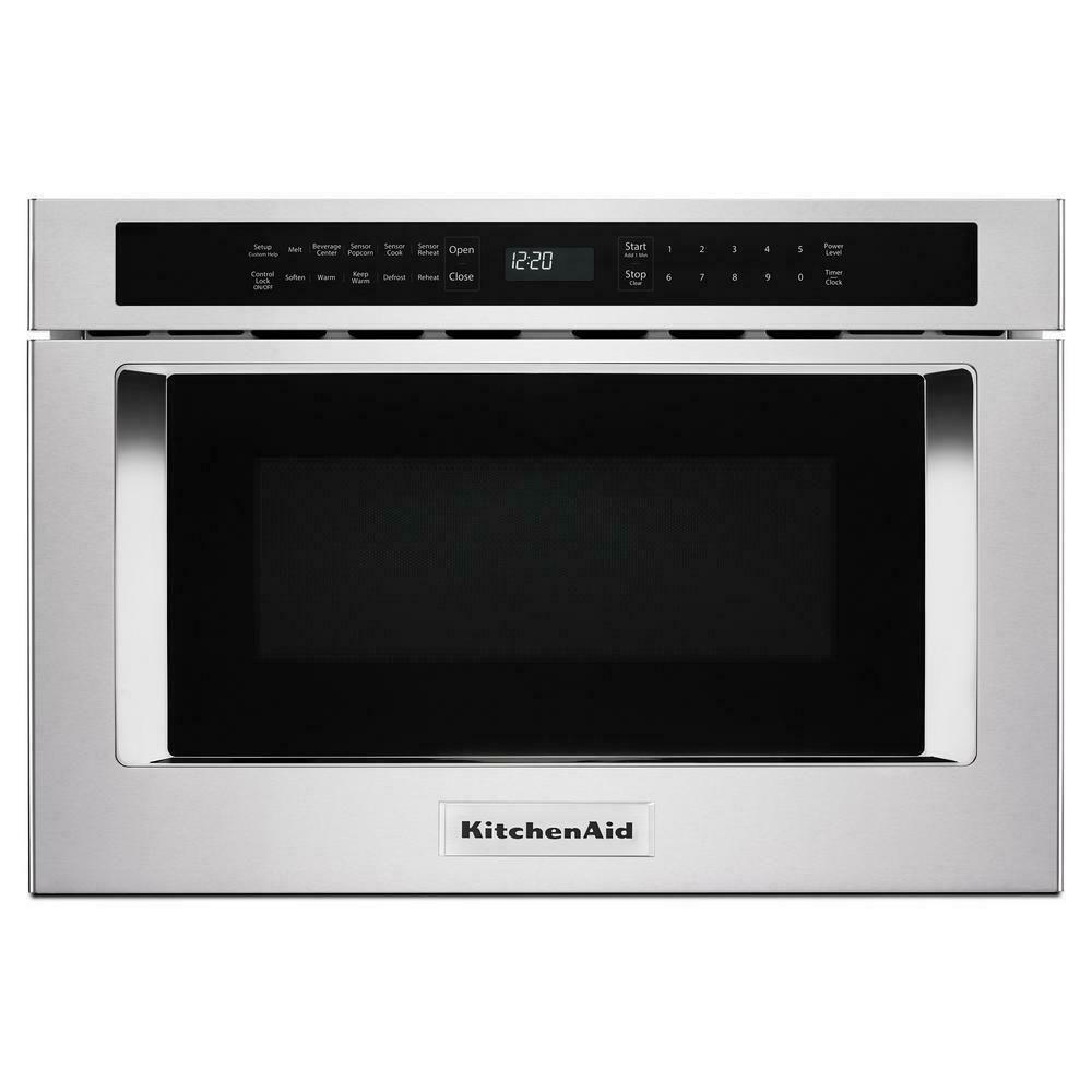 Kitchenaid 24 stainless steel undercounter microwave