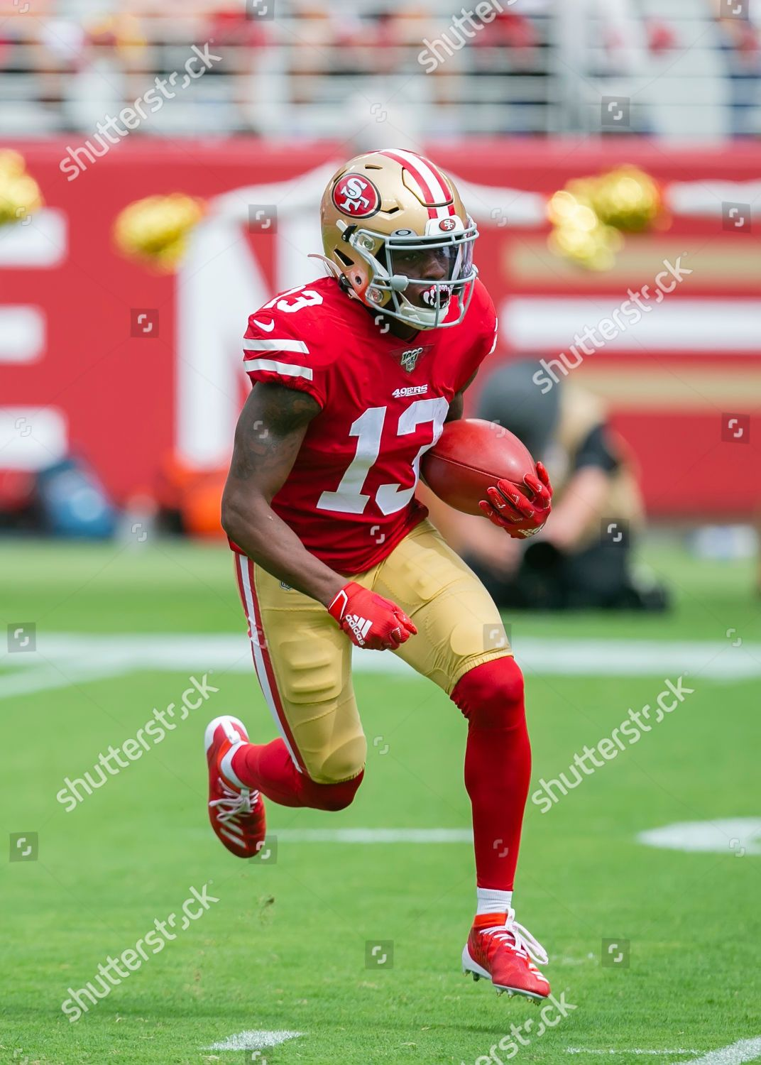 San Francisco 49ers Wide Receiver Richie James Editorial In 2020 Sports Wallpapers Nfl Football Wallpaper Football Wallpaper