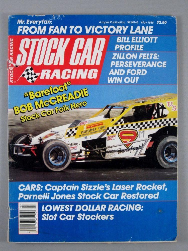 Stock Car Racing May 1985 Parnelli Jones/Bill Elliott/Bob McCreadie ...
