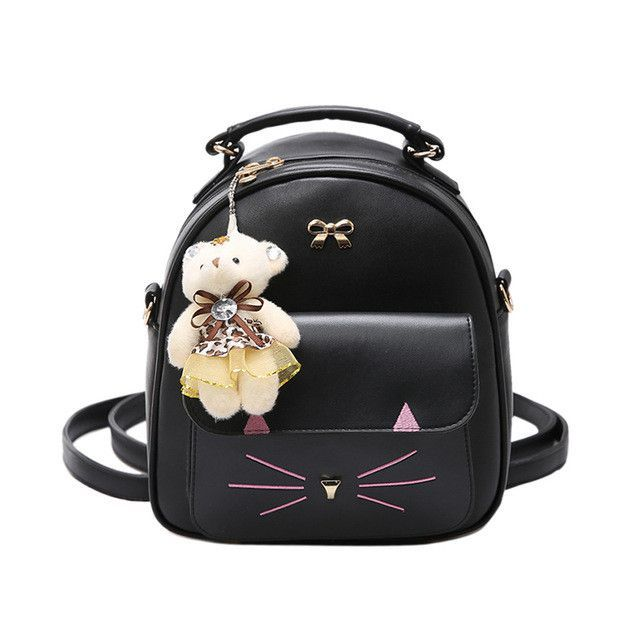 92537a7d61 JOYPESSIE Girls PU Leather Small Backpack Women Back Pack Bag Japan Korea  Teenage Student School Travel
