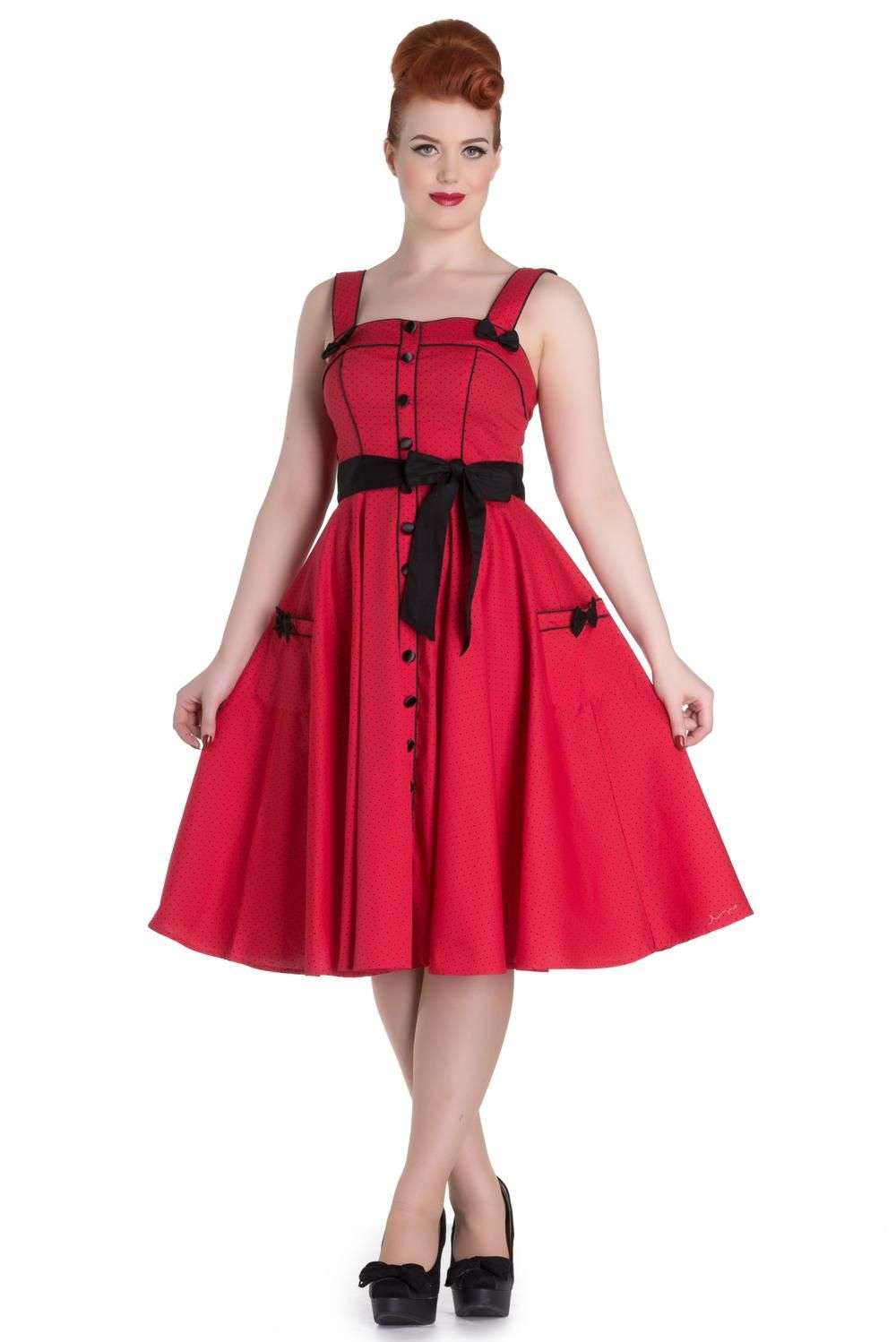 0ebfd045d6fa Hell Bunny Red Martie 50's Dress in 2019 | For Our Pinup & Retro ...