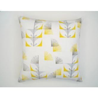 Three Sheets 2 The Wind Fugi Floral 18x18 Pillow   White, Canary Yellow, Sky