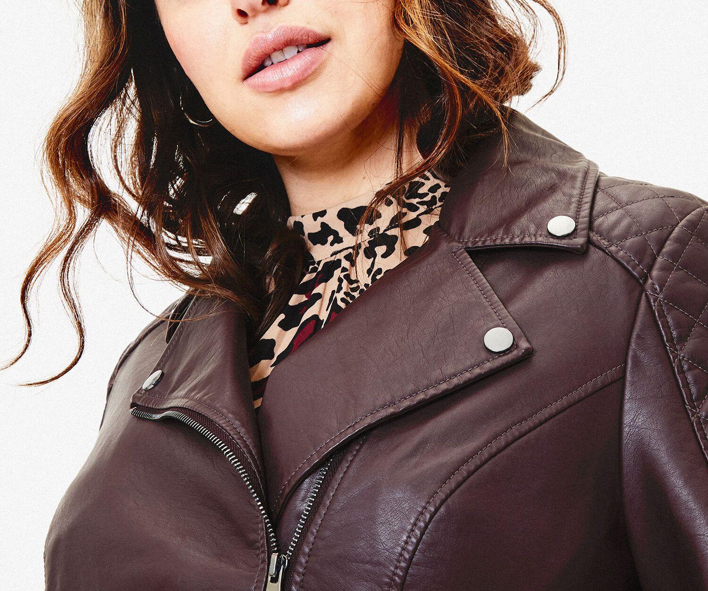 Oasis Leather Studed  Biker jacket