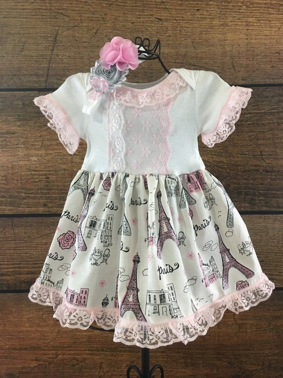 a2103c5b1329 Paris Tea Party Dress for Baby Girls, Baby Dresses Special Occasion, Little Girls  Dresses, Summer, S