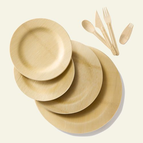 BAMBU VENEERWARE  REUSABLE DISPOSABLE  PLATES AND UTENSILS ... : reusable paper plates - pezcame.com