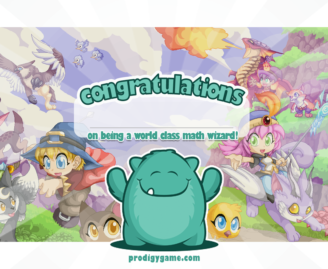 Certificate Png 1 100 902 Pixels Prodigy Math Prodigy Math Game