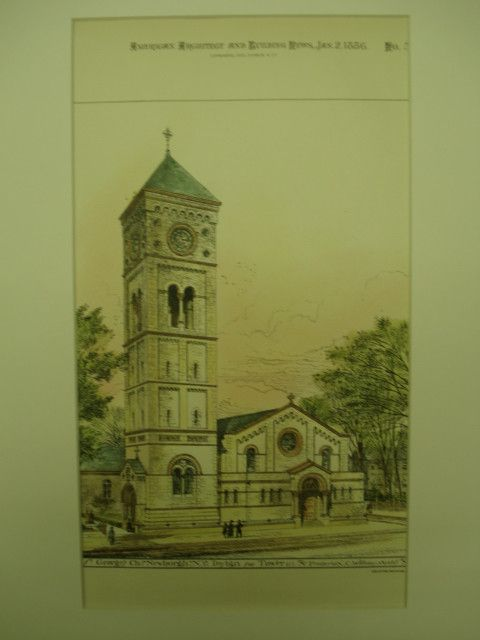 St. George's Church , Newburgh, NY, 1886, Frederick C. Withers