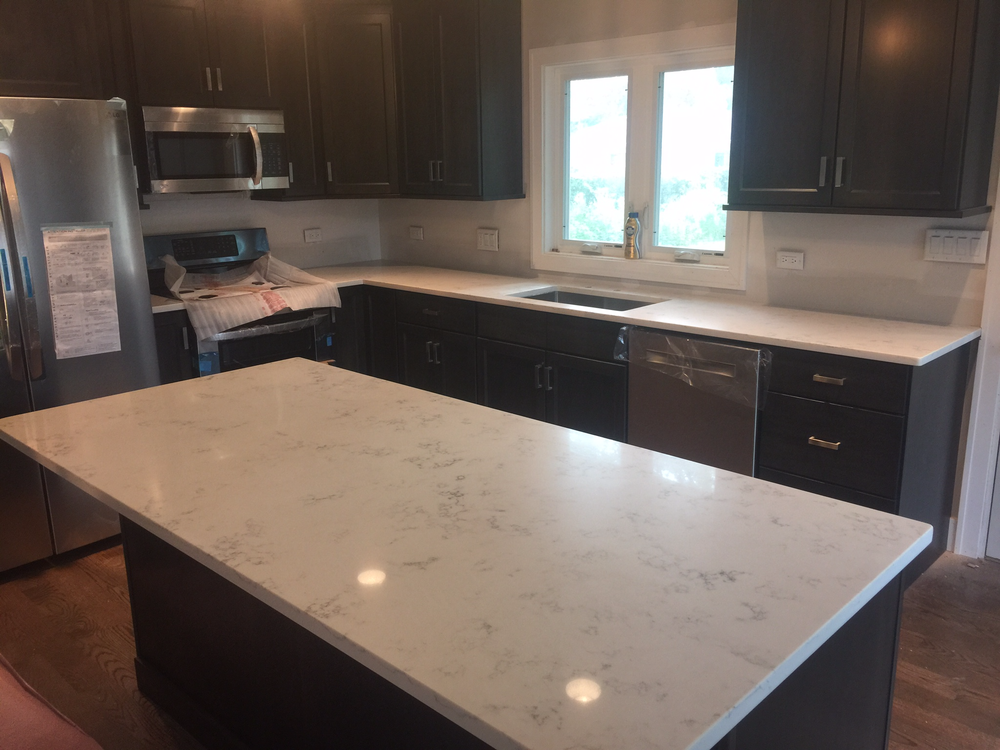 Carrara Grigio Quartz Yelp Kitchen Redo Granite