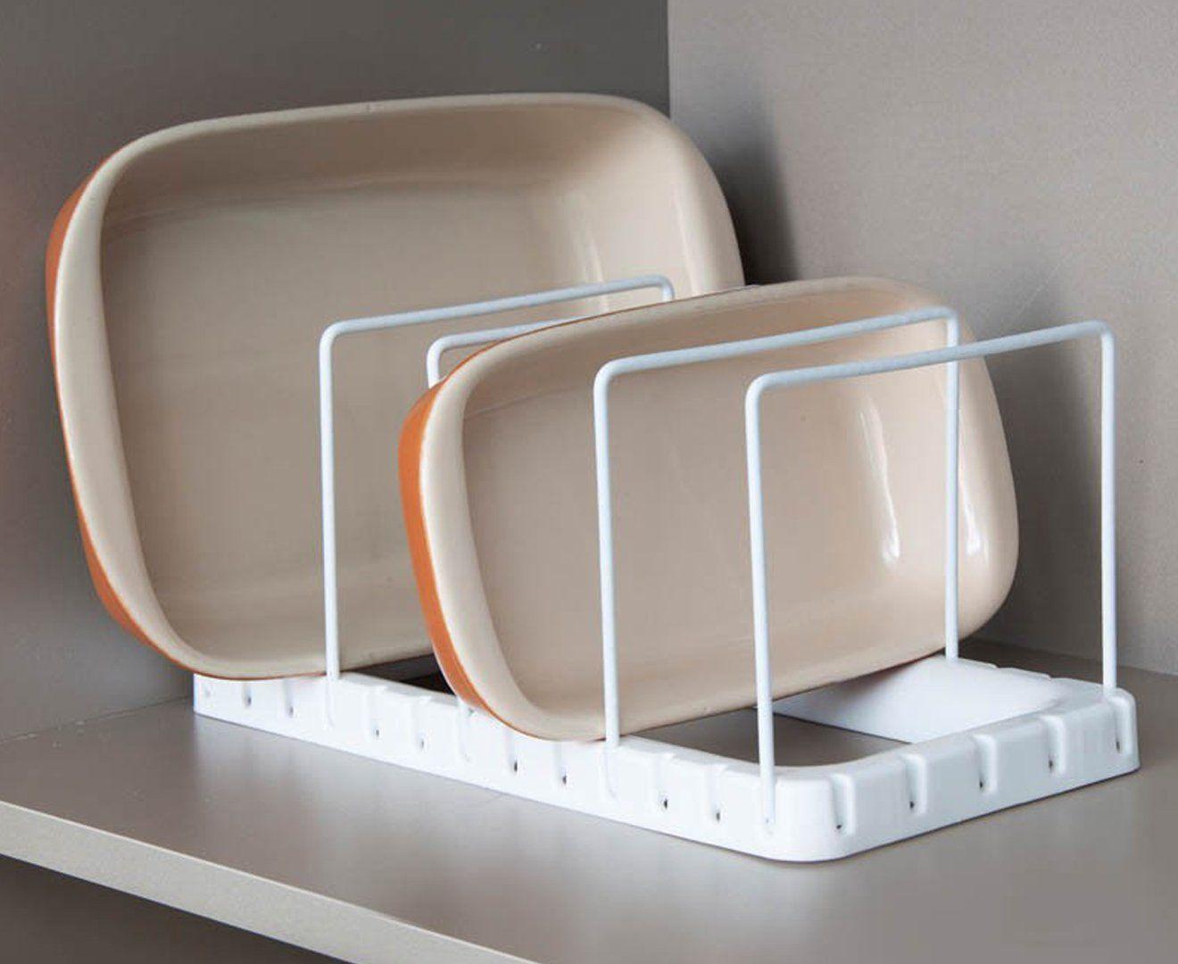 Organizador de formas - Branco - Mantenha sua formas e travessas sempre organizadas! - Cozinha