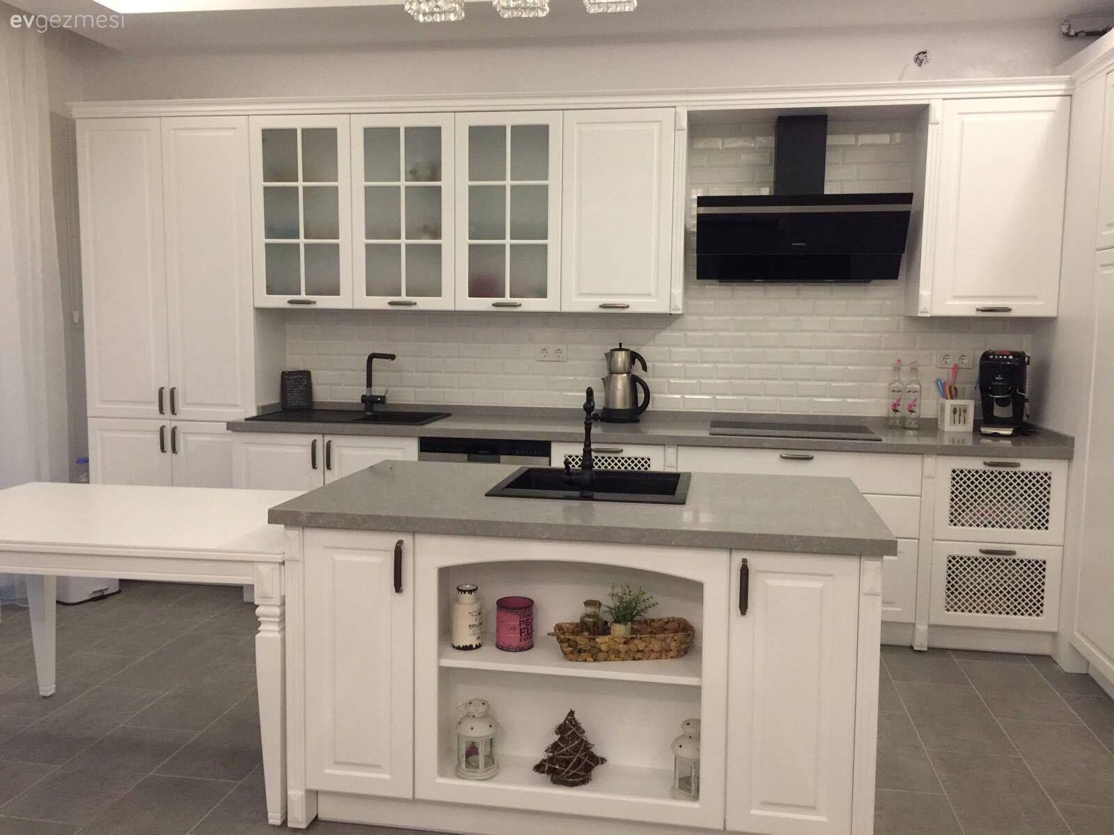 Beyaz Mutfak Dolaplari 1000 Beyaz Mutfak Modeli Ev Gezmesi Beyaz Mutfak Dolaplari Beyaz Mutfaklar Mutfak Tasarimlari