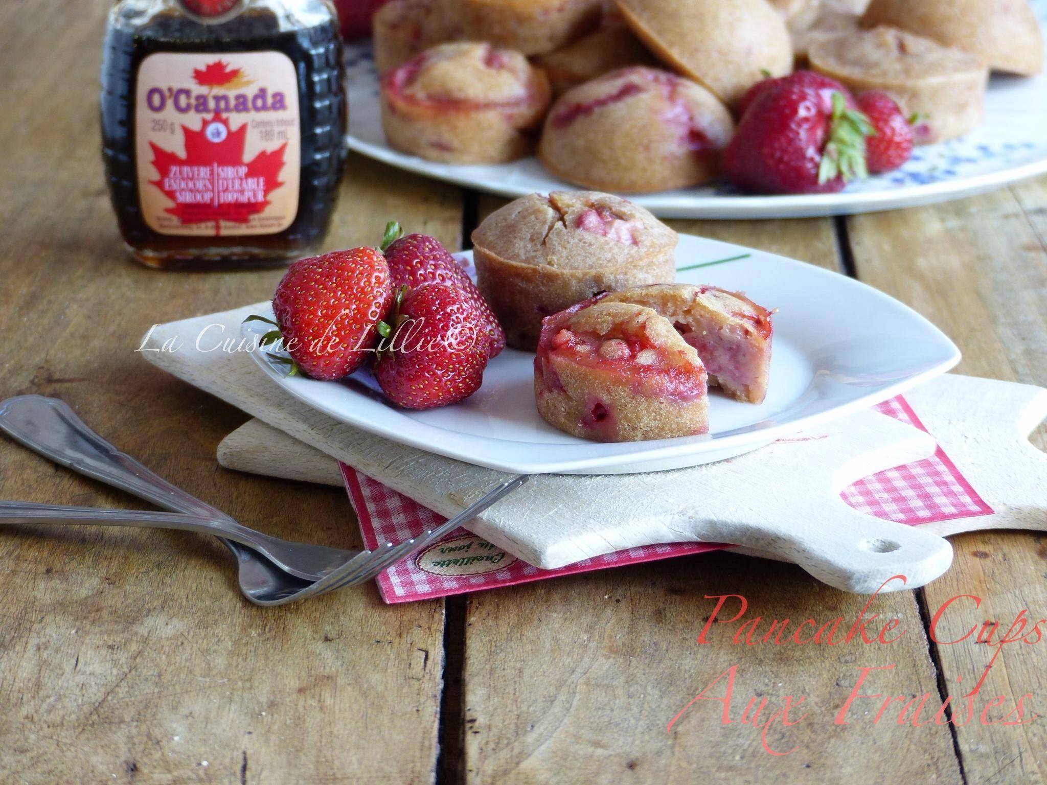 Pancakes cups aux fraises