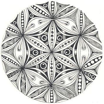 zentangles pinterest fleur de la vie croquis de. Black Bedroom Furniture Sets. Home Design Ideas
