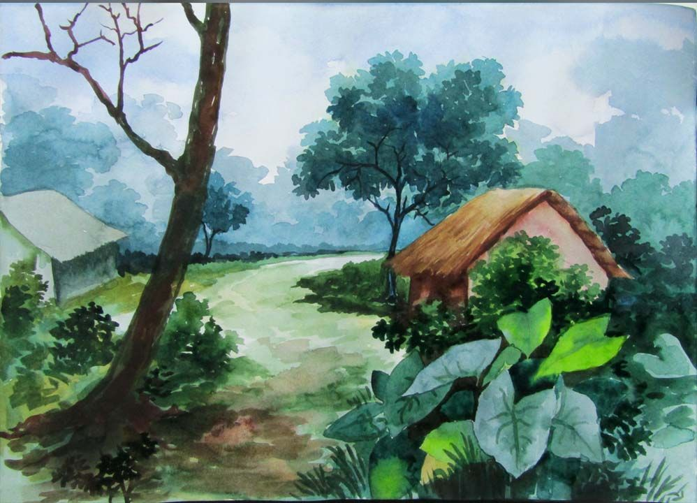 Today S Presentation Of Mangrove Art Is Watercolor Painting