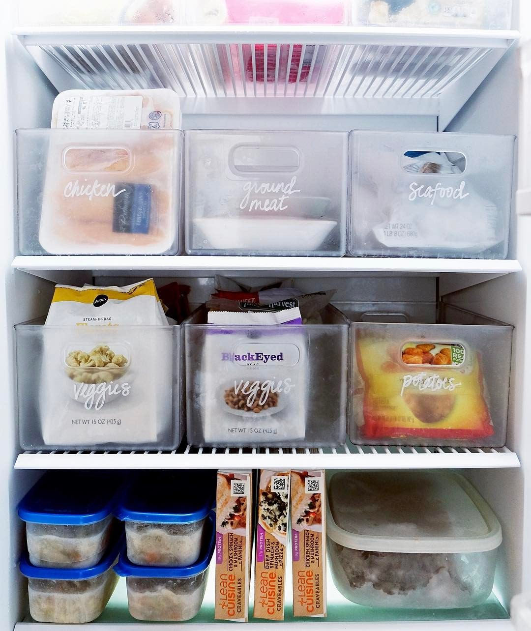Contenitori Per Organizzare Frigo a perfectly packed freezer ❄️ we created bins for all the