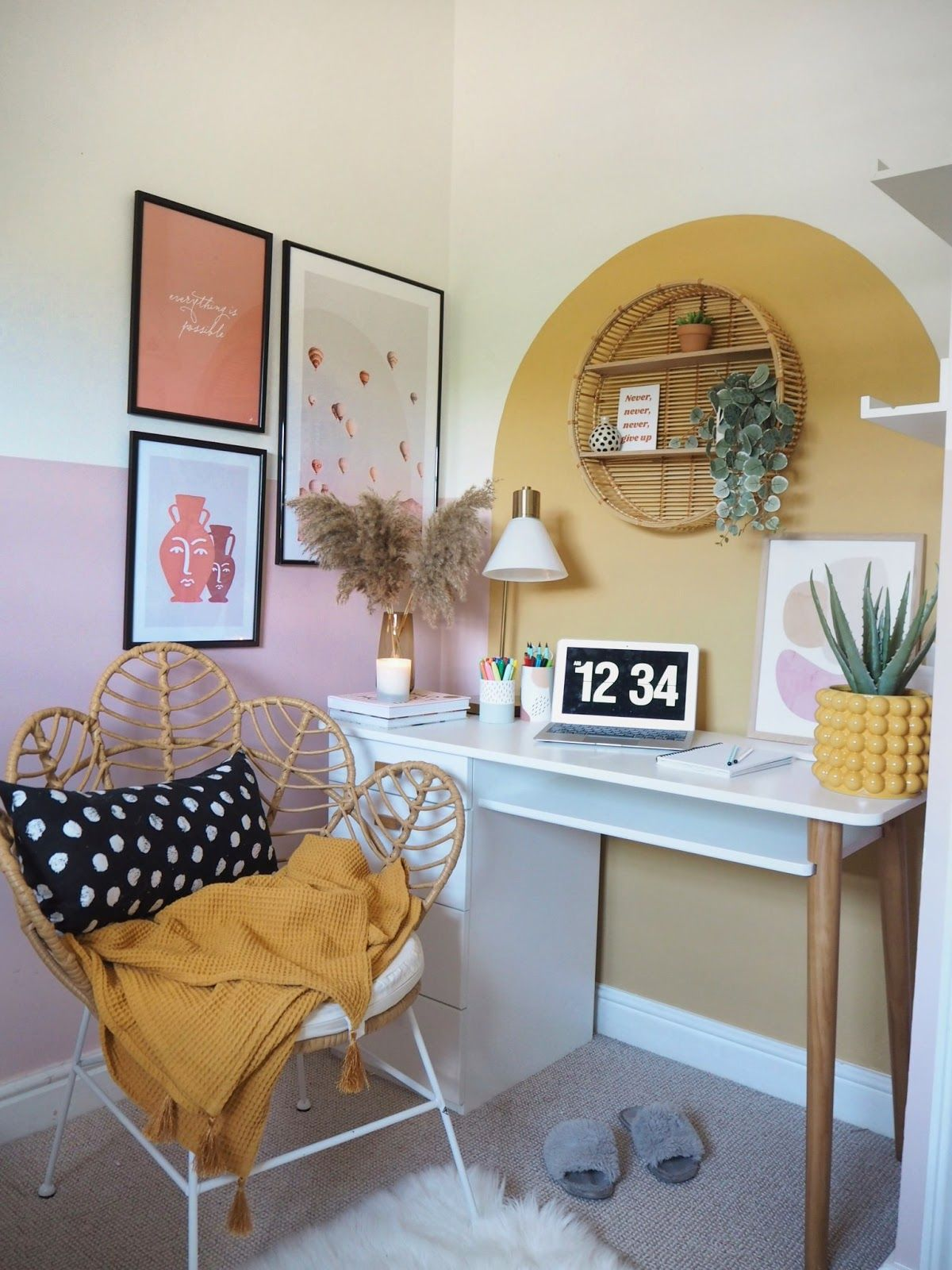Spare room to home office makeover