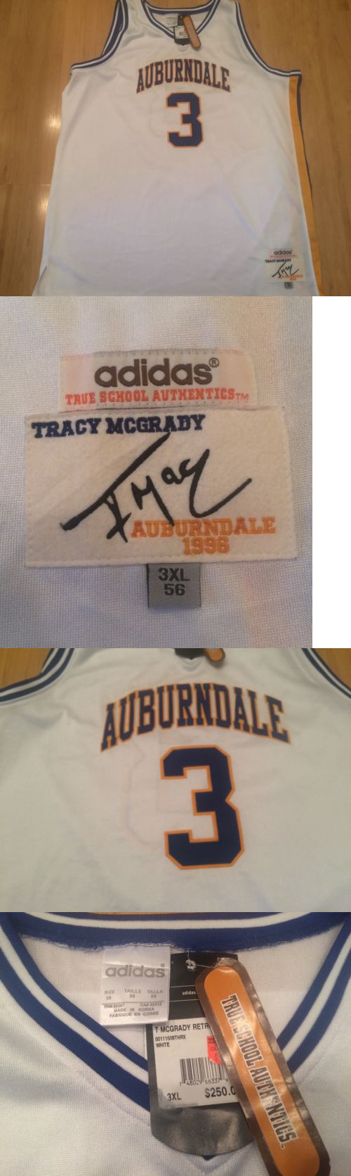 a78a7f98d Basketball-Other 205  Nwt Adidas True School Tracy Mcgrady Auburndale High  School Sewn Jersey
