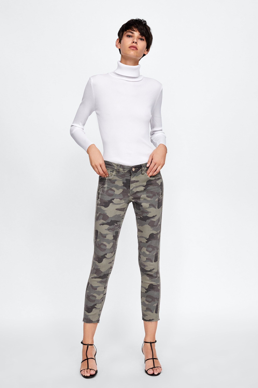 pantalon femme camouflage zara