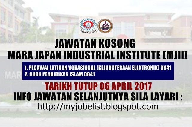 Jawatan Kosong Di Mara Japan Industrial Institute 06 April 2017 Jawatan Kosong Terkini Di Mara Japan Industrial I Social Security Card Japan Social Security