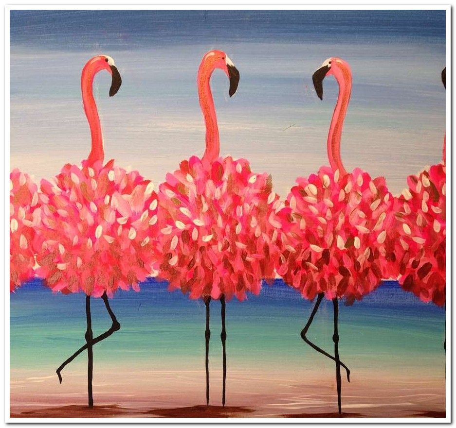 15 Painting Ideas Qtip Painting In 2020 Canvas Painting Diy Flamingo Painting Summer Painting