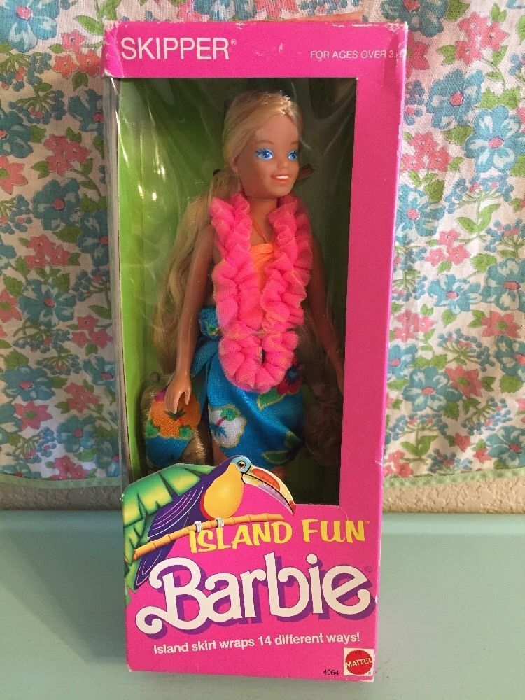 Vintage Island Fun Skipper 1987 Barbie 1980s Hawaii 4064