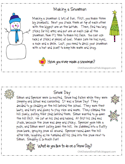 Chit Chat and Small Talk: /R/ Loaded Paragraphs for Christmas ...
