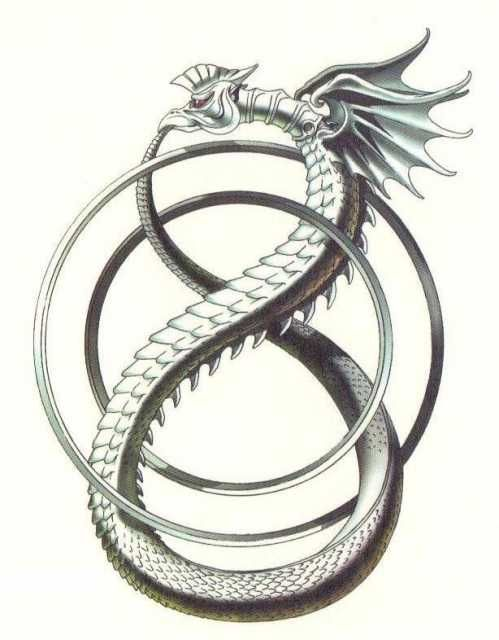 A Serpent Eating Its Own Tail Ouroboros Symbolizes Eternity Its