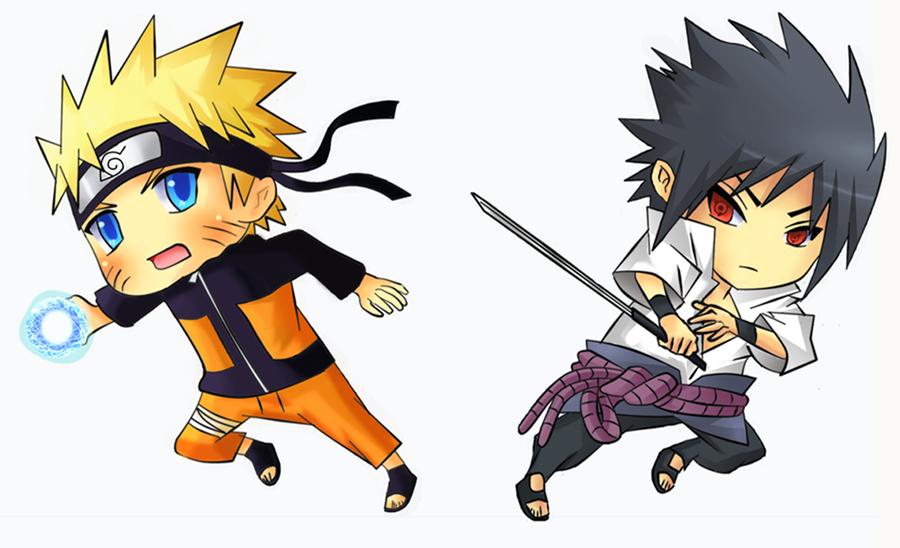 Naruto VS Sasuke Chibi By Kite Kdeviantart On DeviantArt