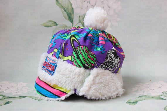 328b5d0e4da 80 s Neon Trapper Hat   Vintage PANTERA by LittleMonstersStore ...