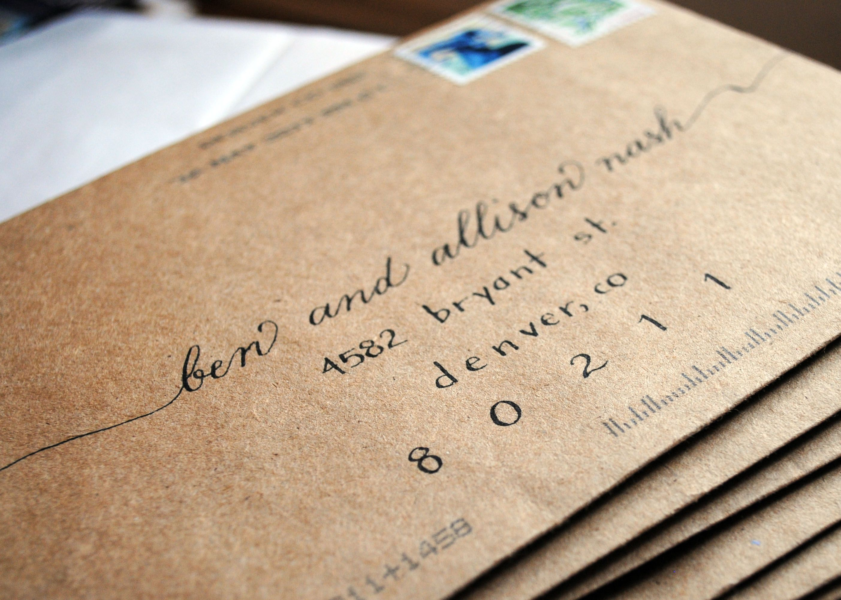 Should Wedding Invitations Be Hand Addressed: Calligraphy . Envelope . Mail