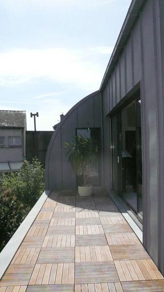 Shema architectes le mans bardage zinc construction bois extension sur l vation for Construction bois zinc