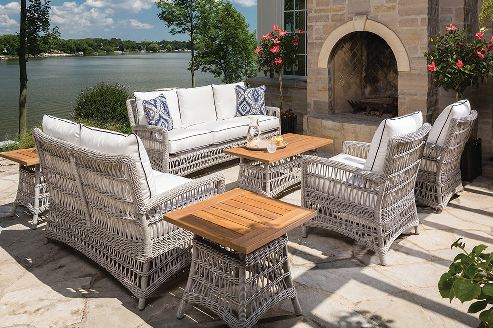 Collection Lloyd Flanders Premium Outdoor Furniture In All Weather Wicker Woven Vinyl And Teak Outdoor Furniture Furniture Lloyd Flanders