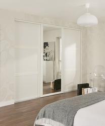 Shaker Panel U0026 Mirror Door White | Sliding Wardrobe Doors | Doors U0026 Joinery  | Howdens Joinery