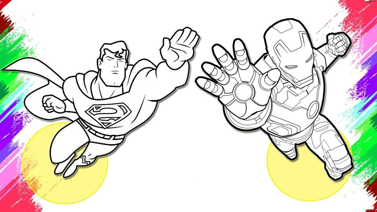 Iron Man Vs Superman Coloring Pages Superhero Coloring Pages Https Www Youtube Com Watch V Wmd6 Coloring Pages Superhero Coloring Pages Love Coloring Pages