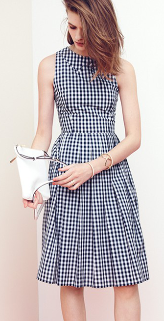 Gingham fit & flare dress - perfect for Spring