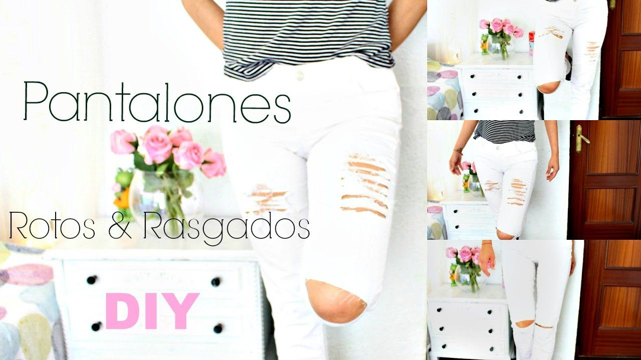 PANTALONES  ROTOS | RIPPED JEANS | GeloGabry - YouTube