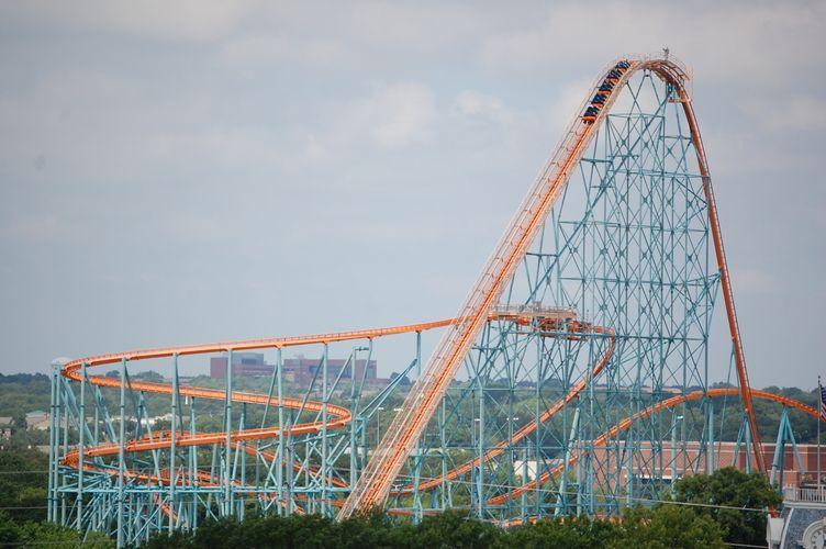 Six Flags Over Texas Titan Six Flags Over Texas Six Flags Roller Coaster