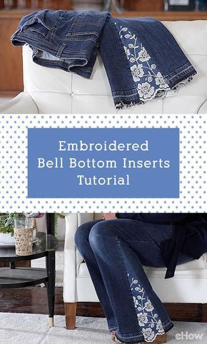 Photo of Embroidered Bell Bottom Inserts Tutorial | eHow.com