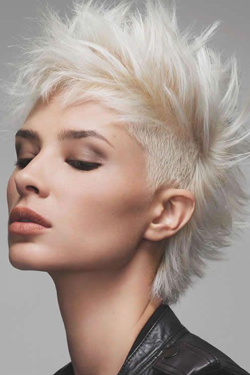 Pingl par emmanuel chicheportiche sur short hairstyle pinterest coiffeur coupe de cheveux - Coiffure rock femme ...