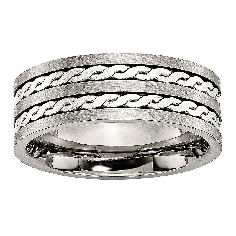 Bridal & Wedding Party Jewelry Nice Titanium 14k Yellow Inlay 5mm Wedding Ring Band Size 10.50 Precious Metal Fine