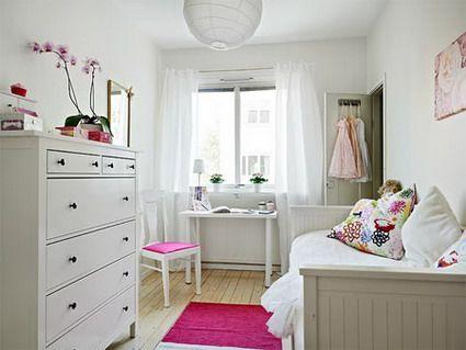 Habitaciones juveniles blancas decoration ideas for Habitaciones juveniles pinterest
