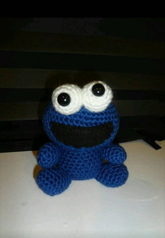 Crochet Amigurumi Cookie Monster Krümelmonster Pinterest